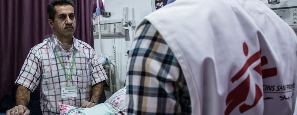 """""""Os hospitais no Iraque têm sempre que estar preparados"""""""
