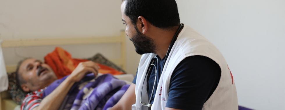 Jordânia: tratando pacientes em casa em Irbid