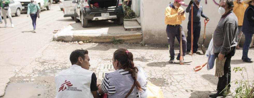 México: MSF envia equipes de suporte psicossocial para apoiar população afetada por terremoto