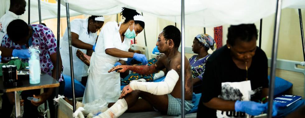 Nigéria: implementação de uma resposta cirúrgica de emergência
