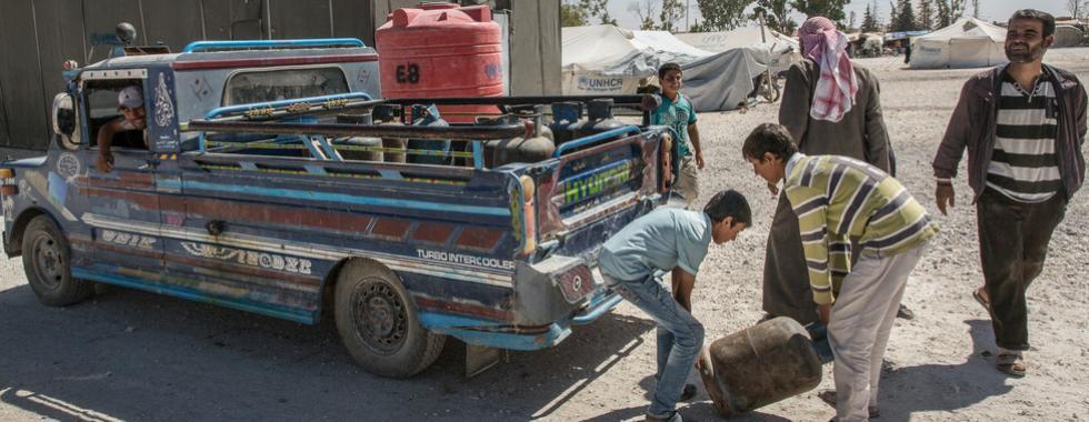 Síria: chegadas diárias ao campo de Ain Issa