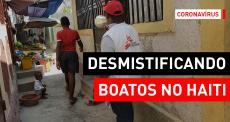 Promotores de saúde de MSF apoiam luta contra a COVID-19 no Haiti