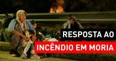 MSF atende pessoas afetadas pelo incêndio em Moria