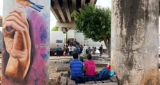 Migrantes na cidade de Coatzacoalcos