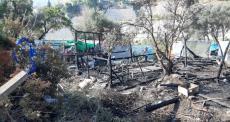 Incêndio atinge campo de refugiados de Vathy, na ilha de Samos