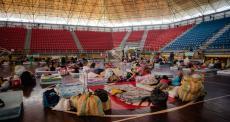 MSF fornece cuidados de higiene para venezuelanos em quarentena após voltarem ao país