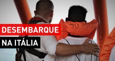 82 pessoas resgatadas desembam na Itália