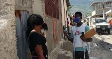 Promotores de saúde de MSF atuam na linha de frente contra a COVID-19 no Haiti