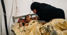 Umm Saqr, cuidadora do centro de trauma