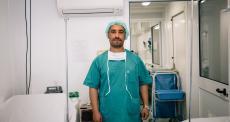 O trabalho no centro de trauma de Mossul, no Iraque