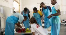 Centro MSF de Tratamento de Cólera em Mar Azul, Beira, Moçambique