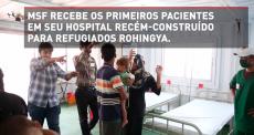 Hospital para refugiados Rohingya construído em três semanas