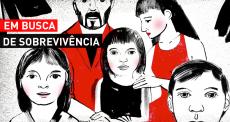 Fugindo da violência em Honduras