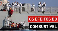 Inalação de combustível e queimaduras químicas no Mediterrâneo