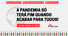 "MSF lança abaixo-assinado on-line ""Liberem as Patentes na Pandemia"""