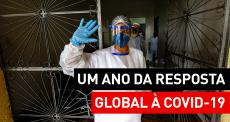 Um ano da resposta global à COVID-19