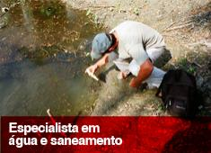 Especialista em água e saneamento