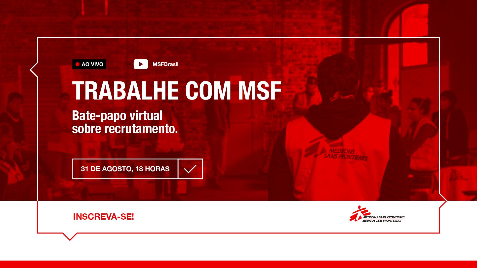 Trabalhe com MSF: bate-papo virtual sobre recrutamento